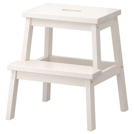 Табурет-лестница белый 43x39x50 см