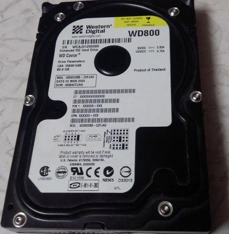 Жорсткий диск Western Digital WD 800 (на 80 гб)