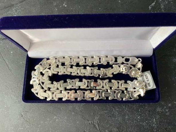 Srebrny Łańcuszek Śliczny Splot Euro Próba 925 Ocechowny Nowy Okazja