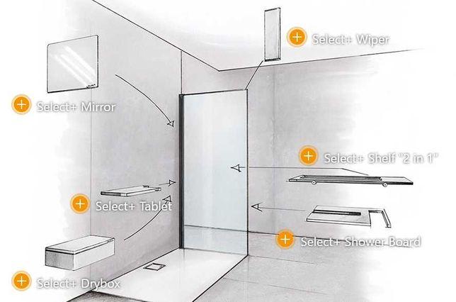 Nowa ścianka prysznicowa Hueppe Select+ 110/200cm
