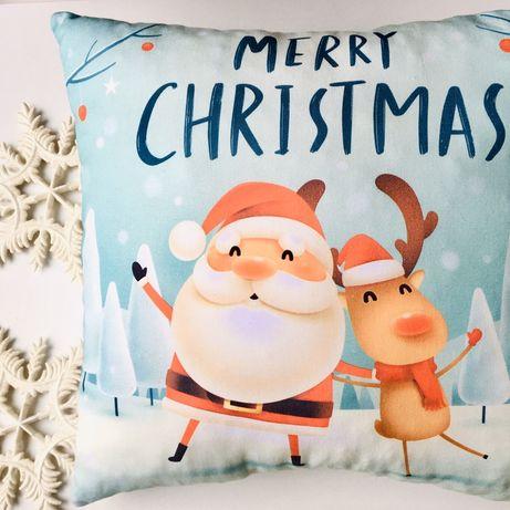 Новогодняя подушка декор