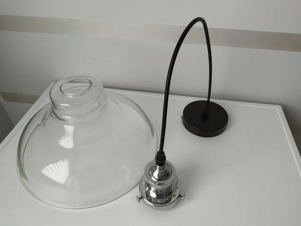Szklana lampa loft