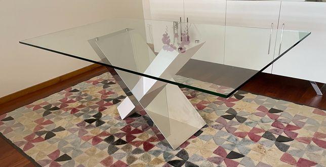 Mesa de sala jantar vidro