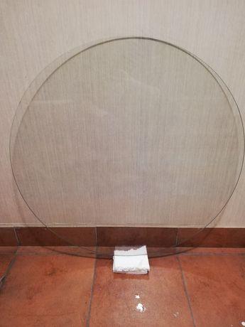 Blat szklany okrągły do stolik np. drewniany