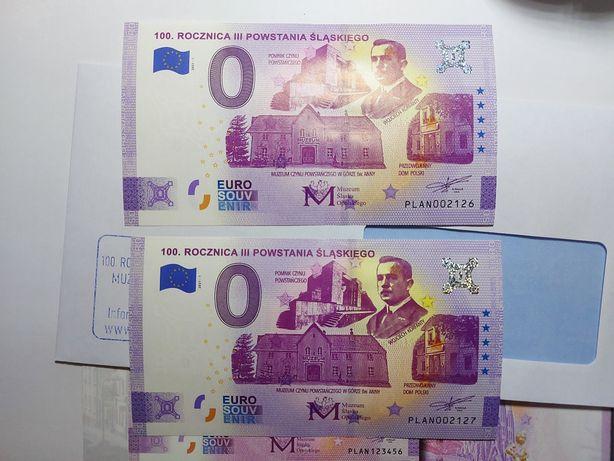 Banknot 0 euro rocznica powstania Śląskiego UNC WYSYŁKA piękny