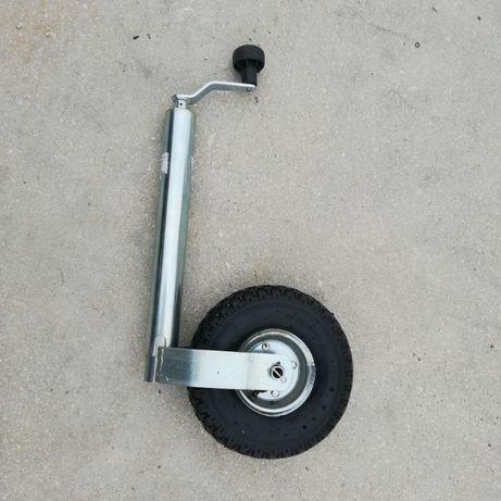 Roda Jockey com pneu com camara de ar
