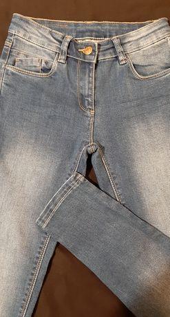 Nowe spodnie jeansy dziewczęce rozmiar 140 firmy Cool Club