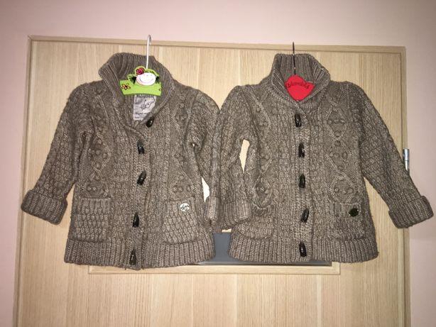 Swetry dla bliźniaczek 2-3 latka 98