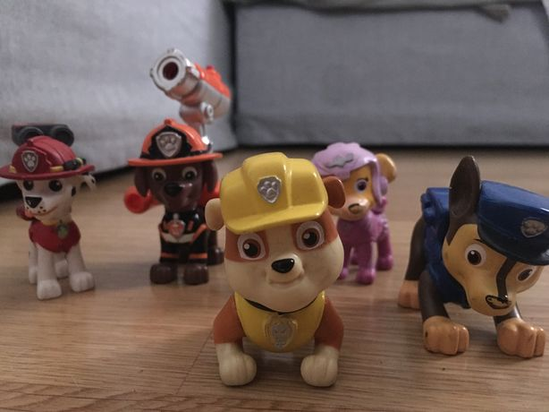 Conjunto de 5 figuras da patrulha pata