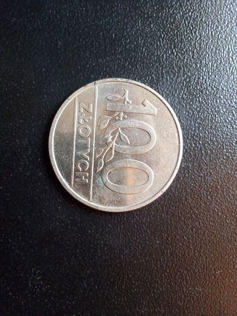 Stara moneta 100 zł 1990