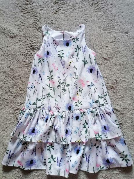 Piękna sukienka H&M rozmiar 128