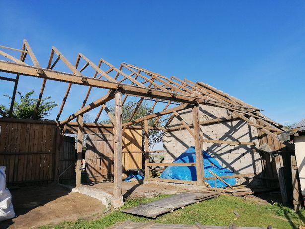 Rozbiórka rozbiórki stodoły stodołę stodoła skup starego drewna