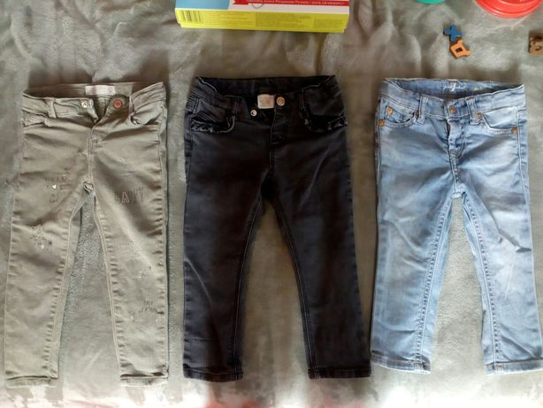 Продаю три пары детские брюки штаны джинсы 98 сантиметров рост/размер