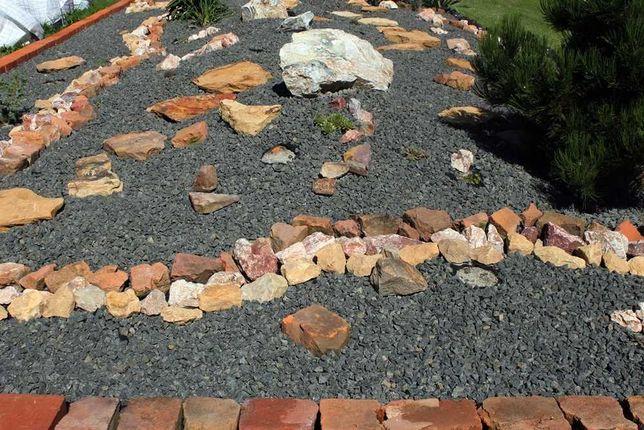 kamień ozdobny skalniak capuccino 1,5 cm kolorowy otoczak czerń bazalt