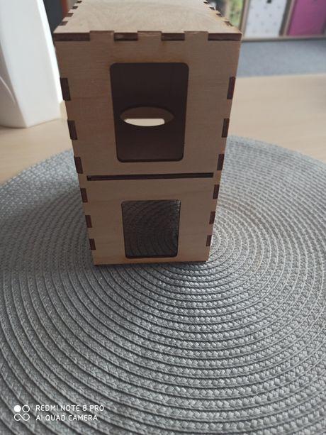 Drewniany domek dla chomika/ myszki