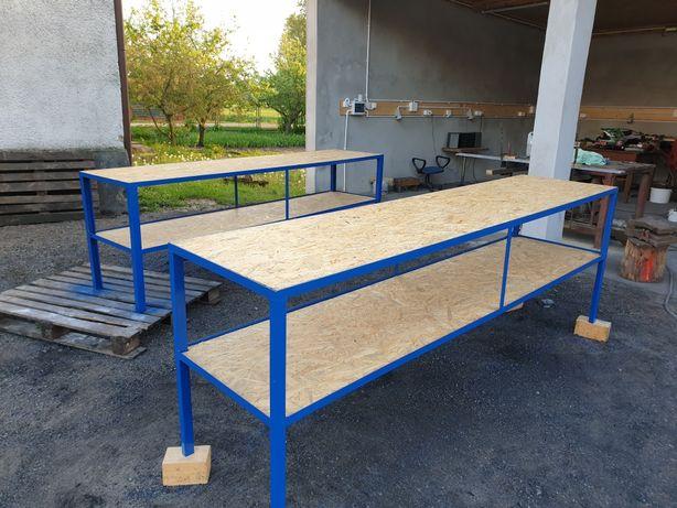Stol warsztatowy garazowy spawalniczy roboczy regal ROZNE WYMIARY