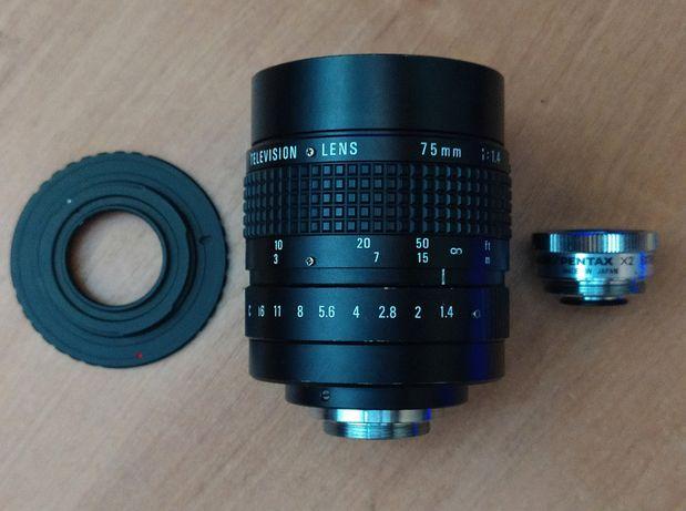Cosmicar 75mm F1.4 TV Lens m4/3 mft Olympus Panasonic замена 75 1.8