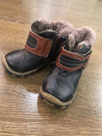 Продам сапоги зимние, детские, кожаные