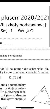 Sesja nr 1  z plusem 2020/2021 klasa 6 7 Matematyka z plusem