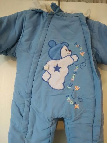 Комбинезон для мальчика или девочки теплый на малыша до года