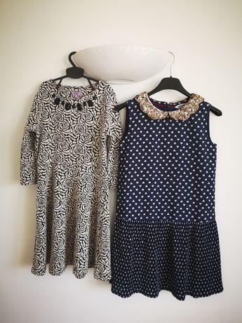 Sukienka sukienki 140 komplet sukienek