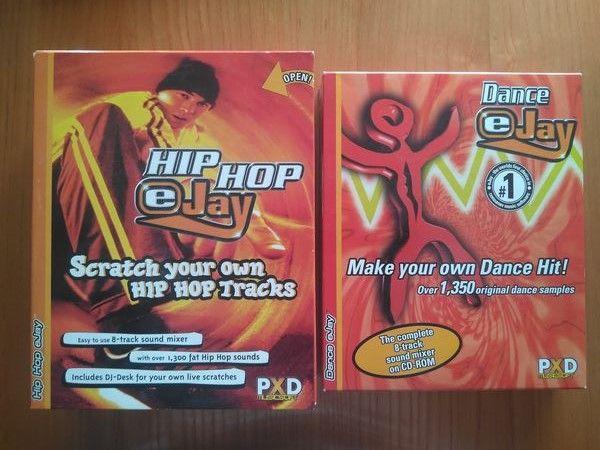 Software Hip Hop Ejay e Dance Ejay CD-ROM Vintage mas por estrear