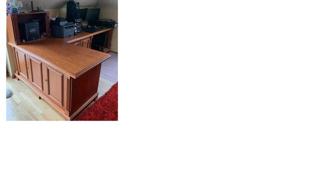 Dębowe biurko z półkami i szufladami