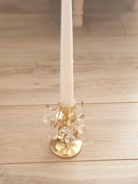 Złoty świecznik z brylancikami