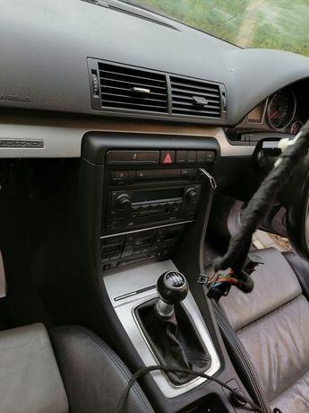 Tunel środkowy audi a4 b6 B7 kompletny panel radio