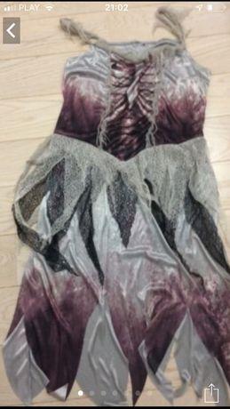 Sukienka przebranie kościotrupa Drakuli
