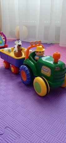 Игровой набор KIDDIELAND трактор фермера  на англ.