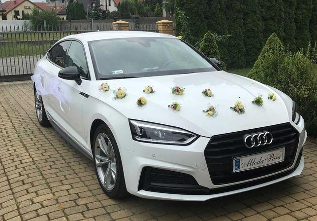 Białe Audi A5 do ślubu