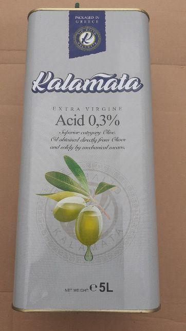 Grecka Oliwa z Oliwek EXTRA VIRGIN 5l - KALAMATA szara 0,3% 5l - tanio