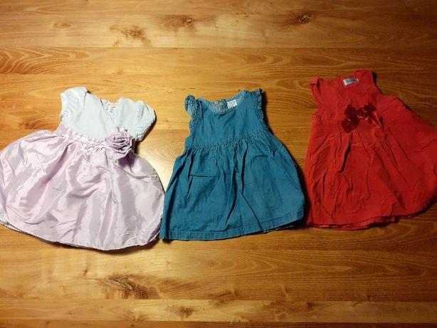 Sukienki dla dziewczynki-3 szt. Coccodrillo i 5 10 15.
