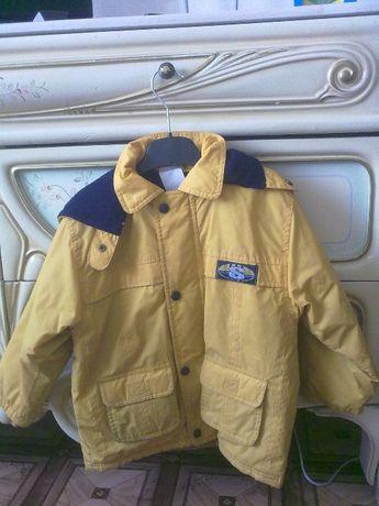 Куртка-штормовка-дождевик SUNSHINE System Sport желтая на синтепоне