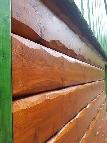 Deska elewacyjna ręcznie obrabiana, nieregularna, elewacja drewniana