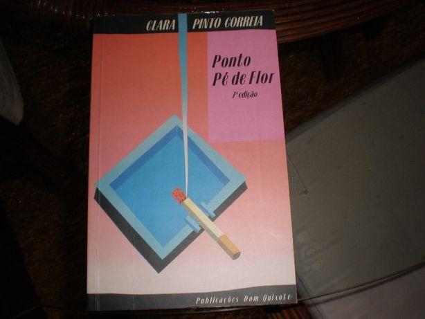 Livro Ponto Pé de Flor Clara Pinto Correia
