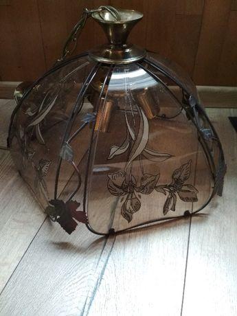 Szklany żyrandol, lampa wisząca