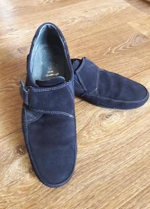 Туфли замшевые 38р.