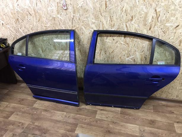 Передние задние двери Шкода Суперб Skoda Superb 2002-2008 разные цвета