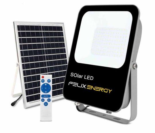 Projector Solar LED 50W + Painel Solar +Comando + Acessórios