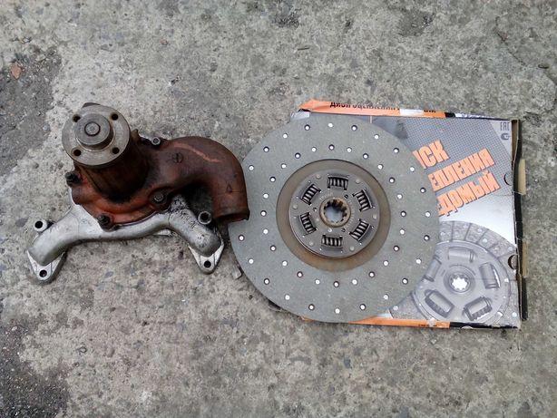 Зил130 помпа, диск,стартер, амортизатор.