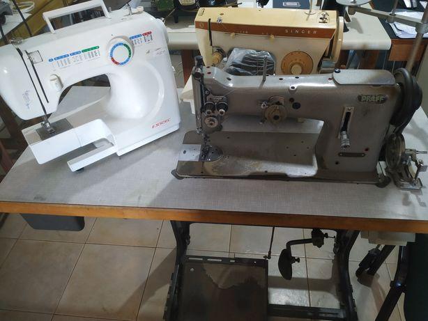 Máquinas de costura e  reparação.