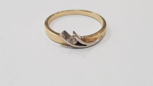 Piękny złoty pierścionek/ 585/ 2.19 gram/ R16/ sklep Gdynia/