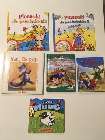 6 książeczek dla dzieci (piosenki dla przedszkolaka oraz inne)