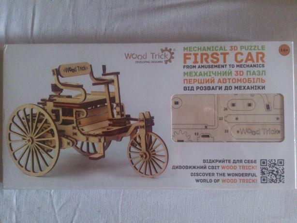 Конструктор из дерева 3D пазл Wood Trick Первый автомобиль