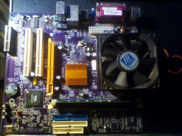 Древняя материнская плата Elitegroup KM400-M2 с процессором Duron 1.6