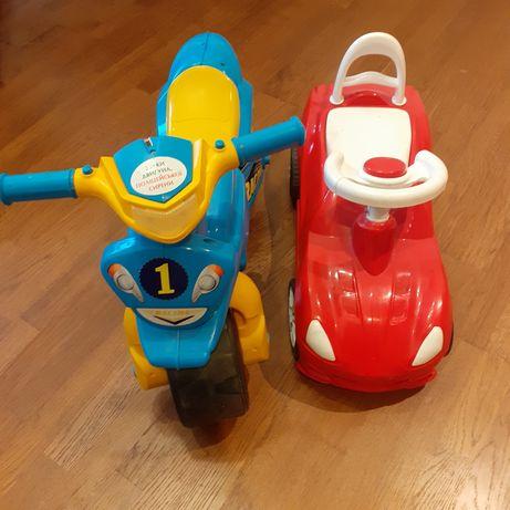 Машинка толокар, дитячий мотоцикл поліцейський