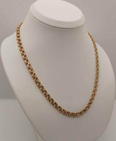 Nowy złoty łańcuszek, Garibaldi, Bismark. Złoto 14k/585. 50cm