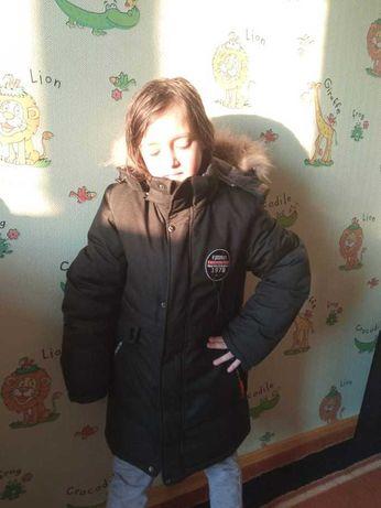 Зимняя куртка на мальчика.  размер : 40
